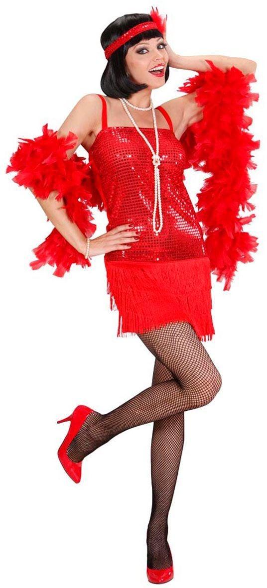 Flapper jurk rood roaring jaren 20
