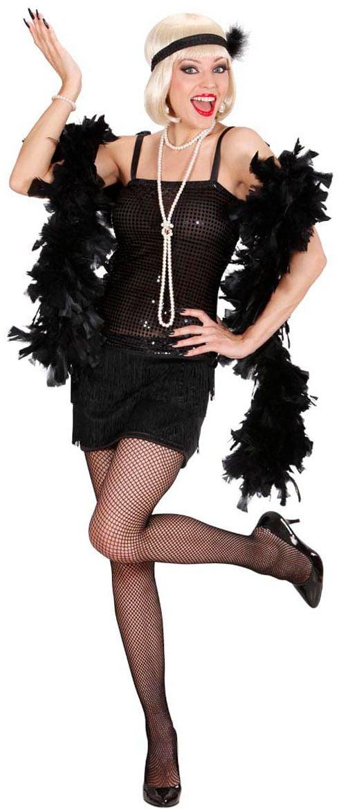 Flapper jurk zwart roaring jaren 20