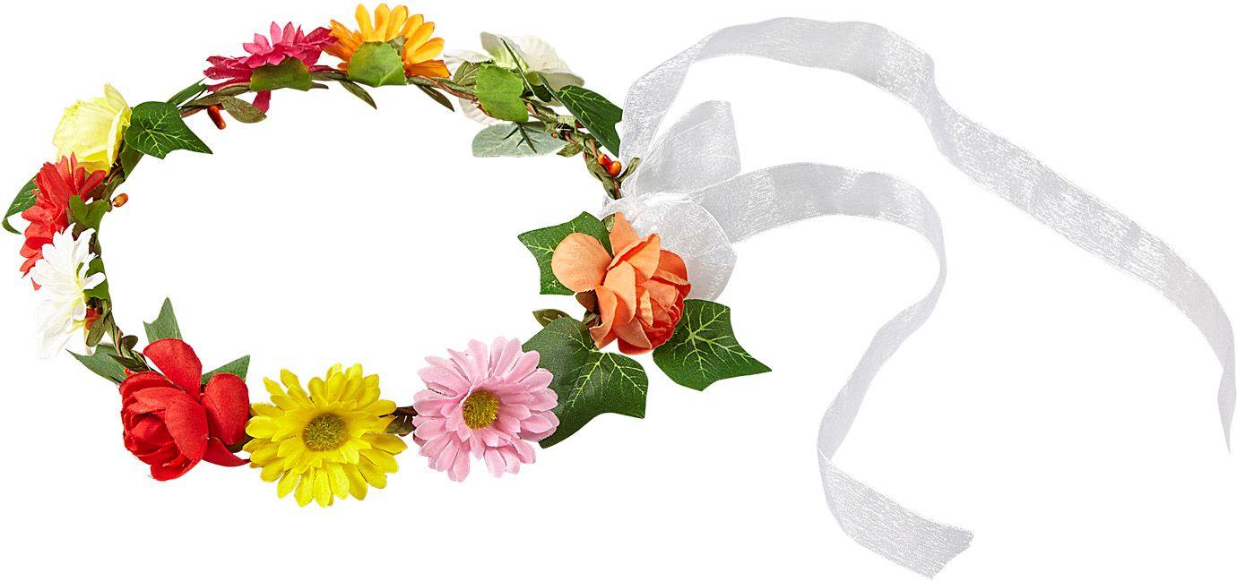 Flower power diadeem met lint