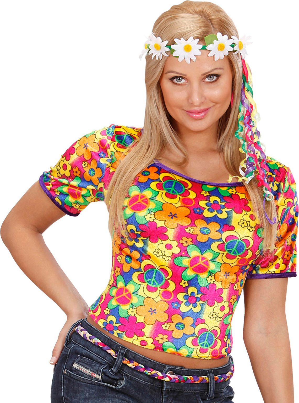 Fluwelen hippie t-shirt