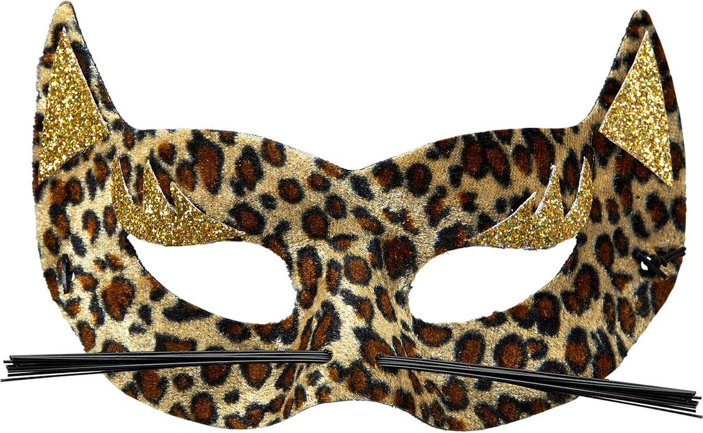 Fluwelen luipaard oogmasker