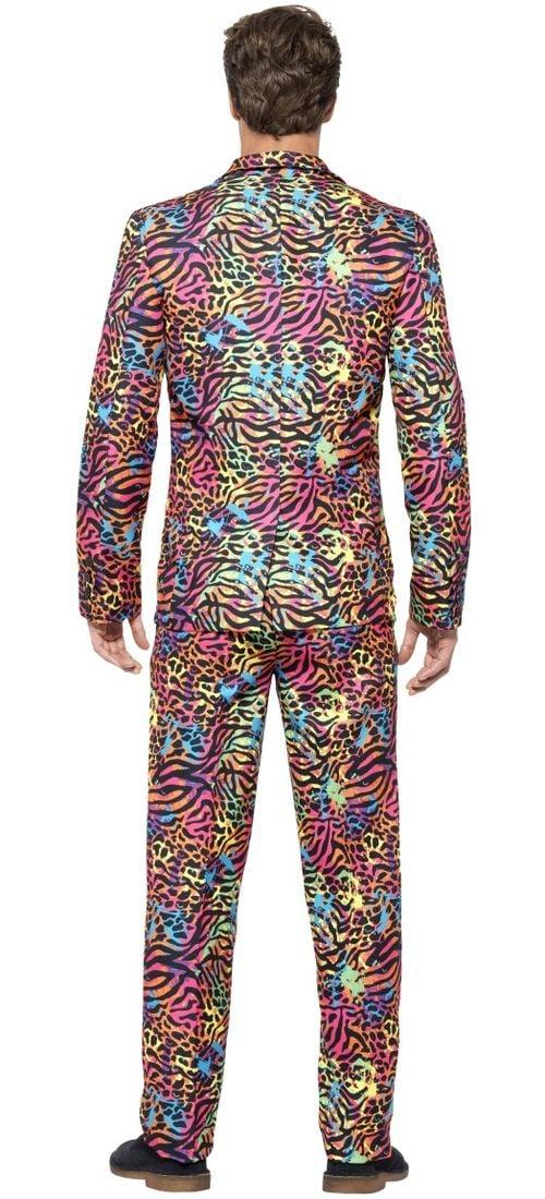 Fout neon dierenprint kostuum