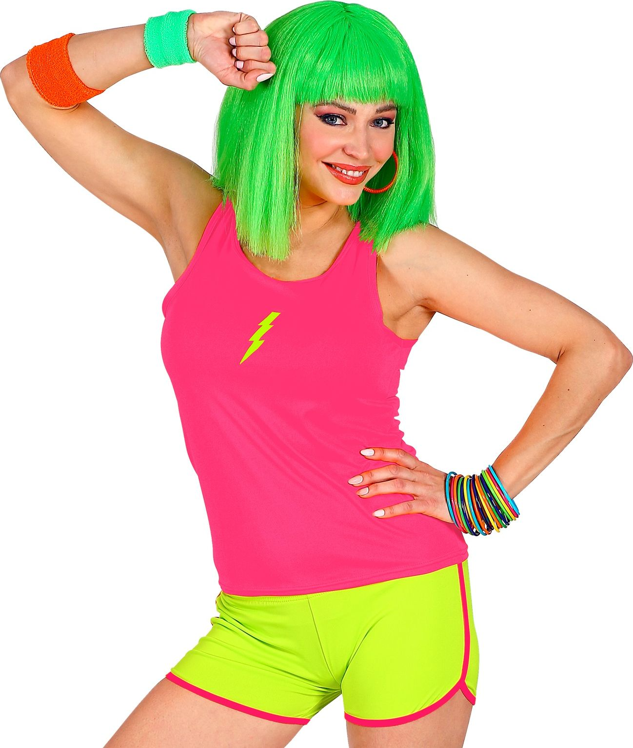 Foute gele neon hotpants