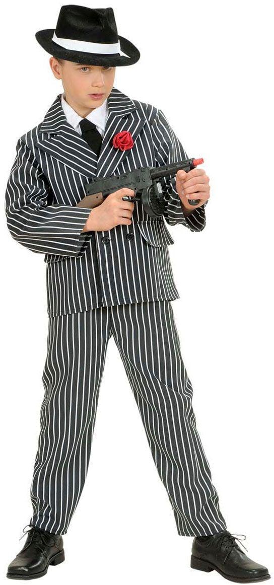 Gangster jongen kostuum