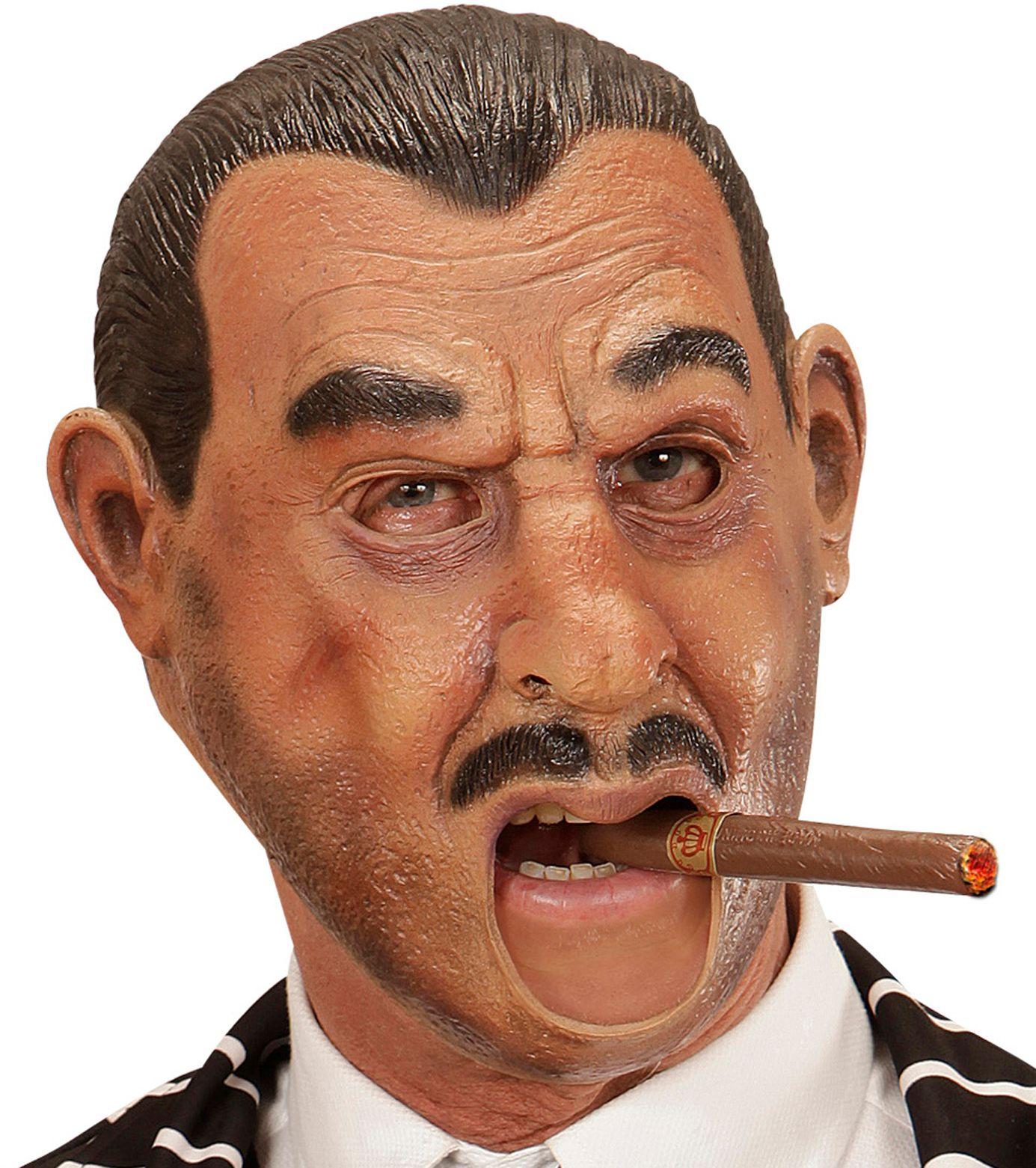 Gangster masker met open mond