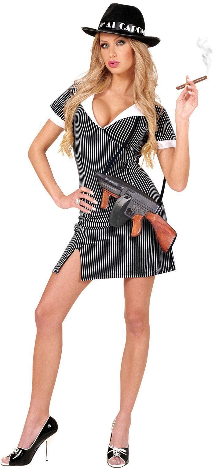Gangster meisje sexy kostuum
