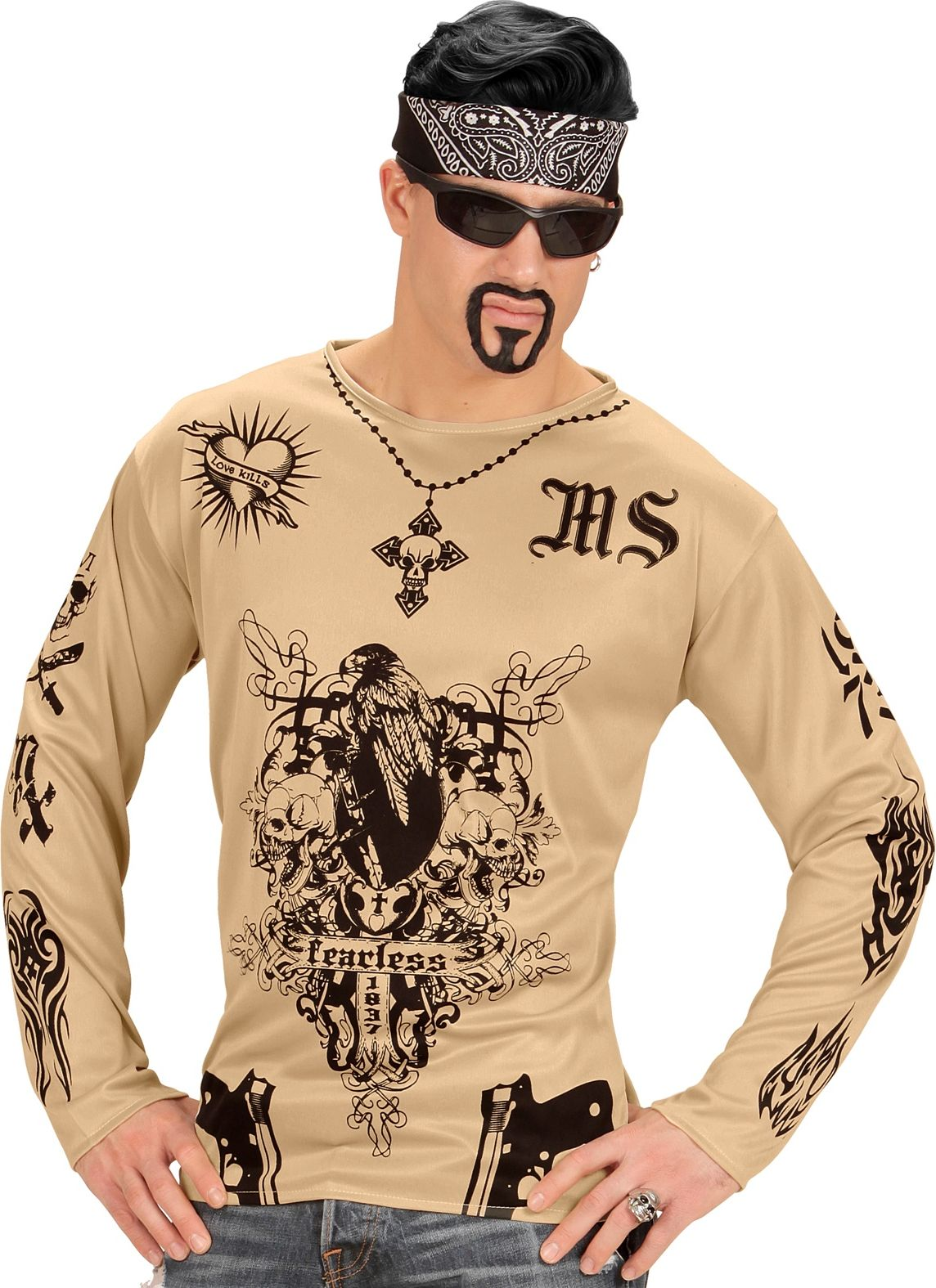 Gangster tattoo shirt