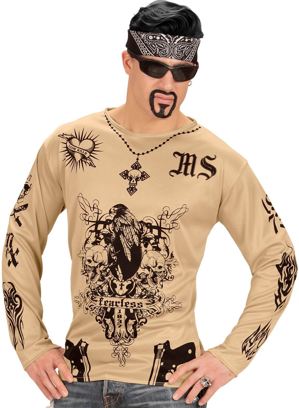 Gangster tattoo shirt