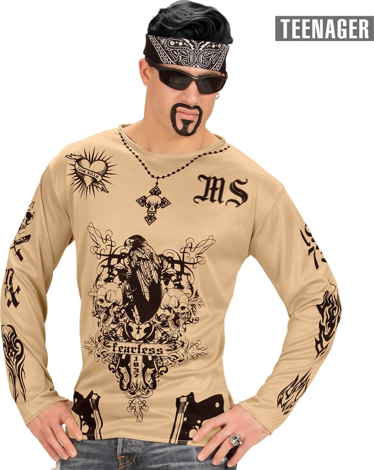 Gangster tattoo shirt kind 164