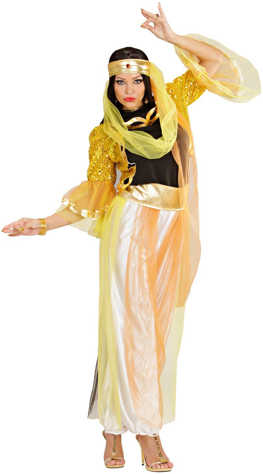 Geel Harem danseres kostuum