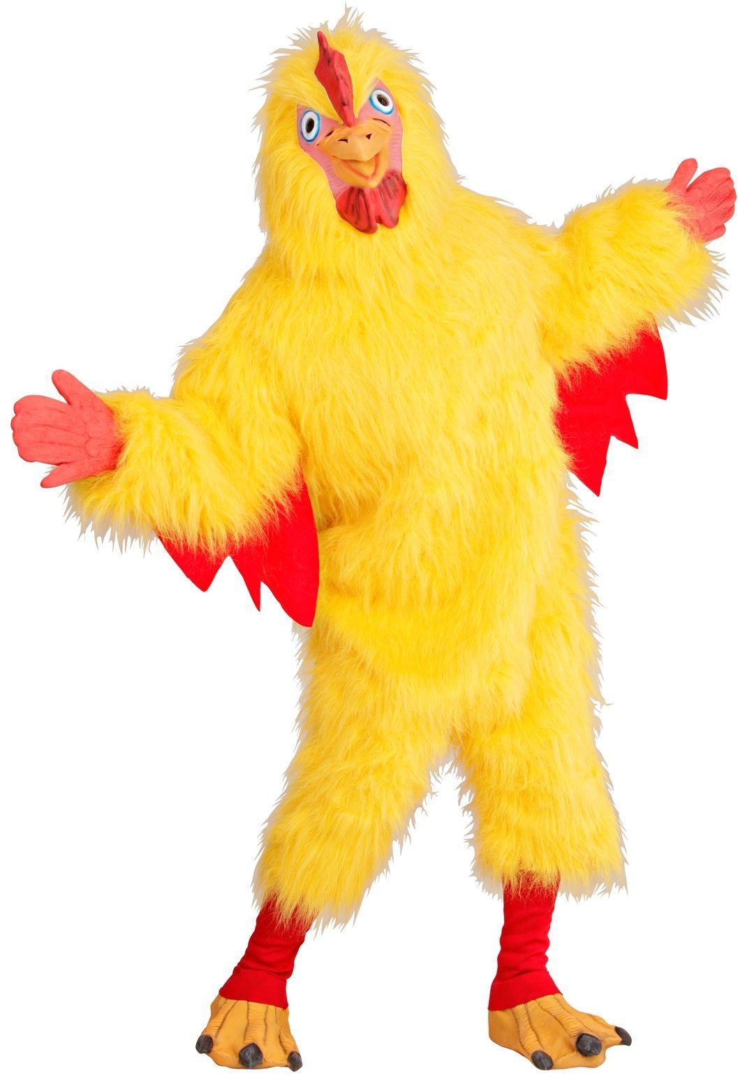 Geel kippenpak