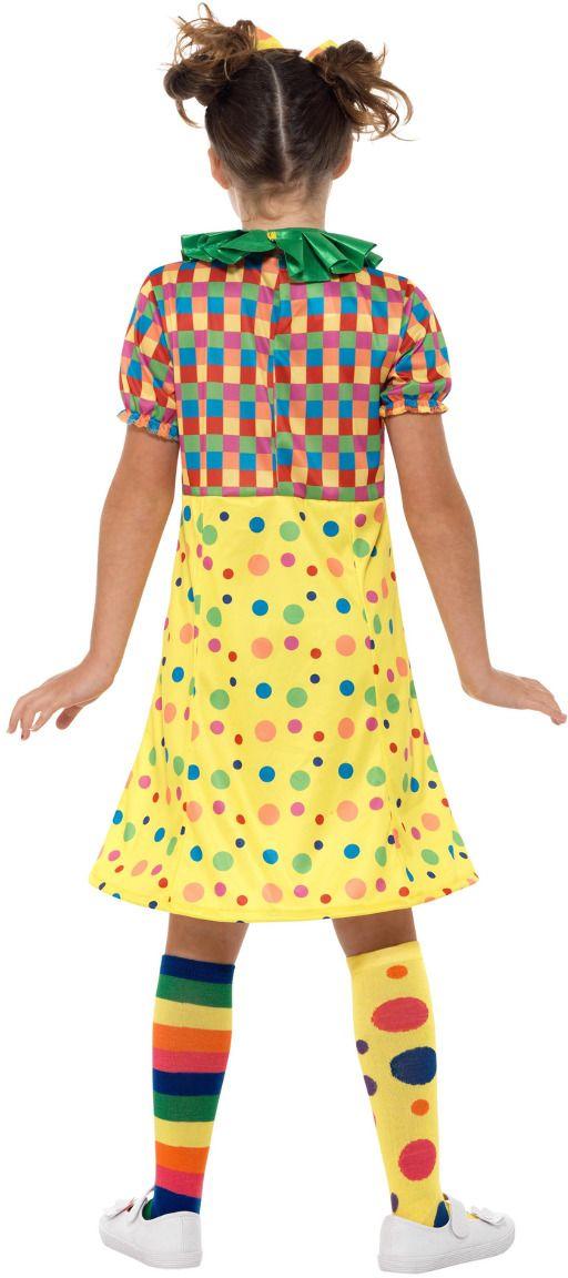 Geel meisjes clowns pakje