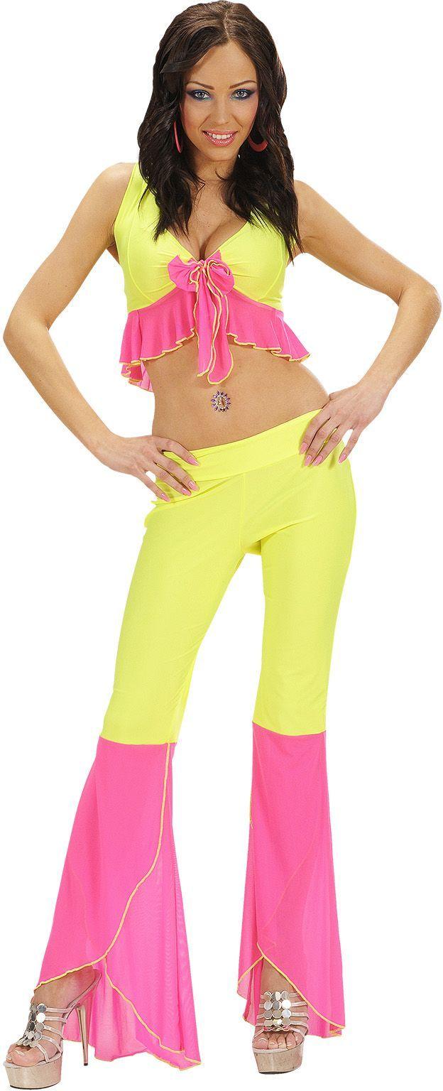Geel-roze samba top en broek