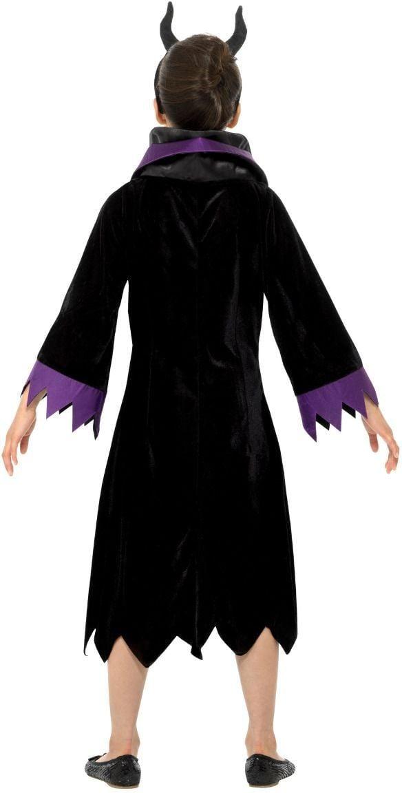 Gehemene koningin Maleficent kostuum meisjes