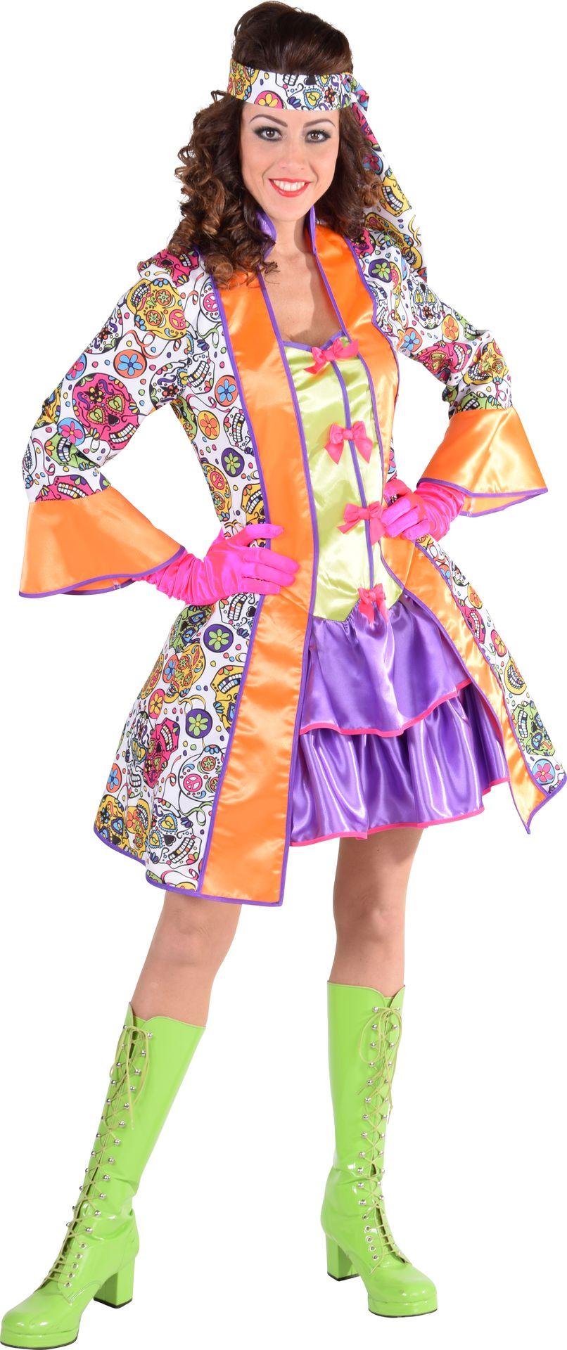 Gekleurd retro jurkje