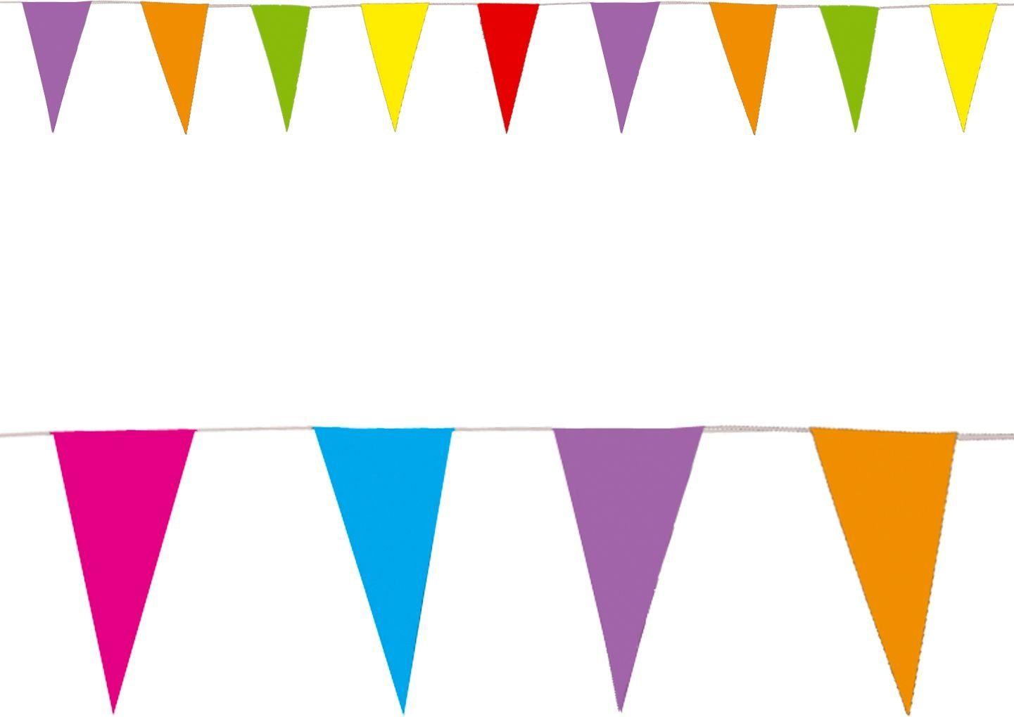 Gekleurde papieren vlaggetjes slinger