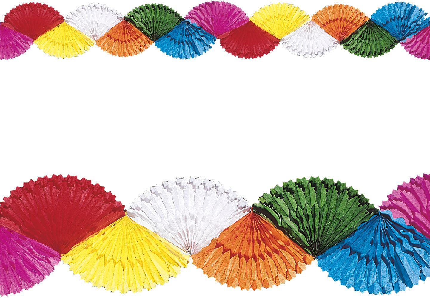 Gekleurde papieren waaier slinger