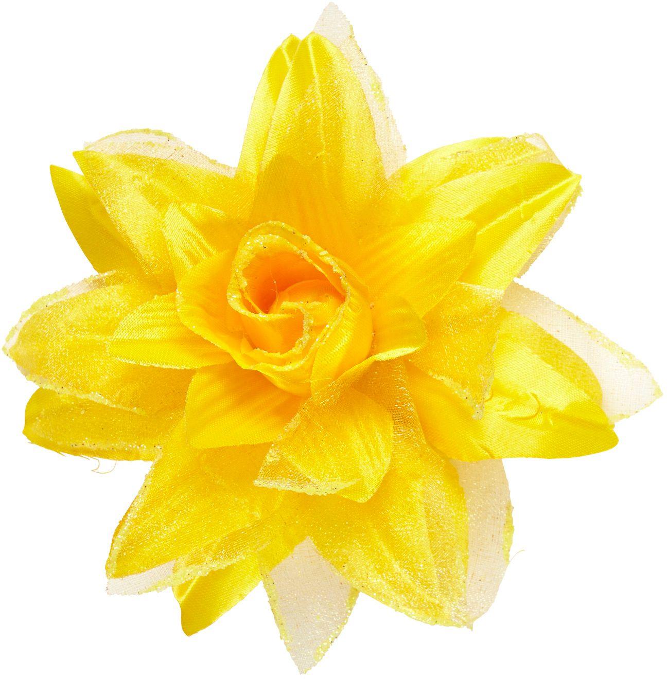Gele bloem haarclip