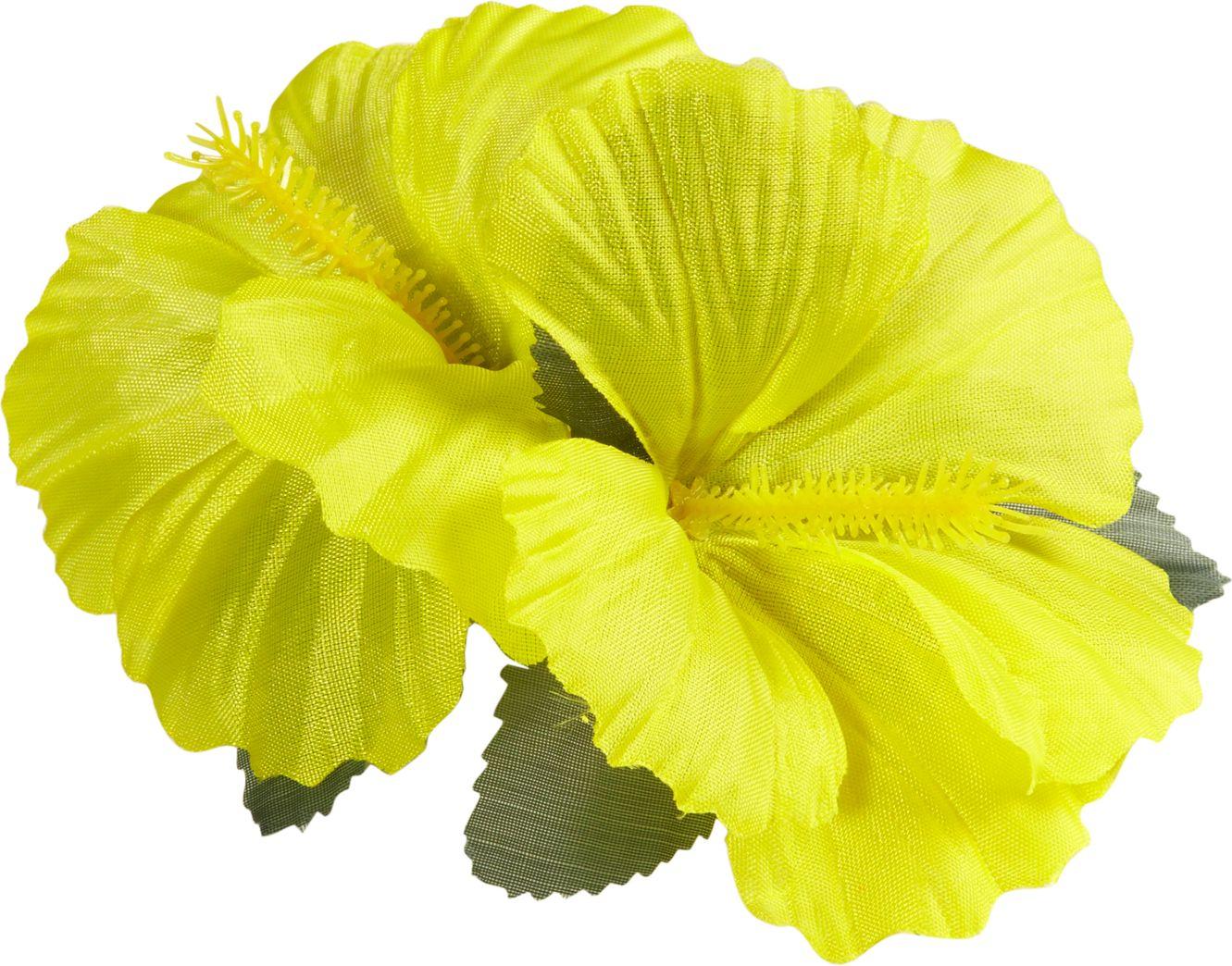 Gele bloemen haarclip