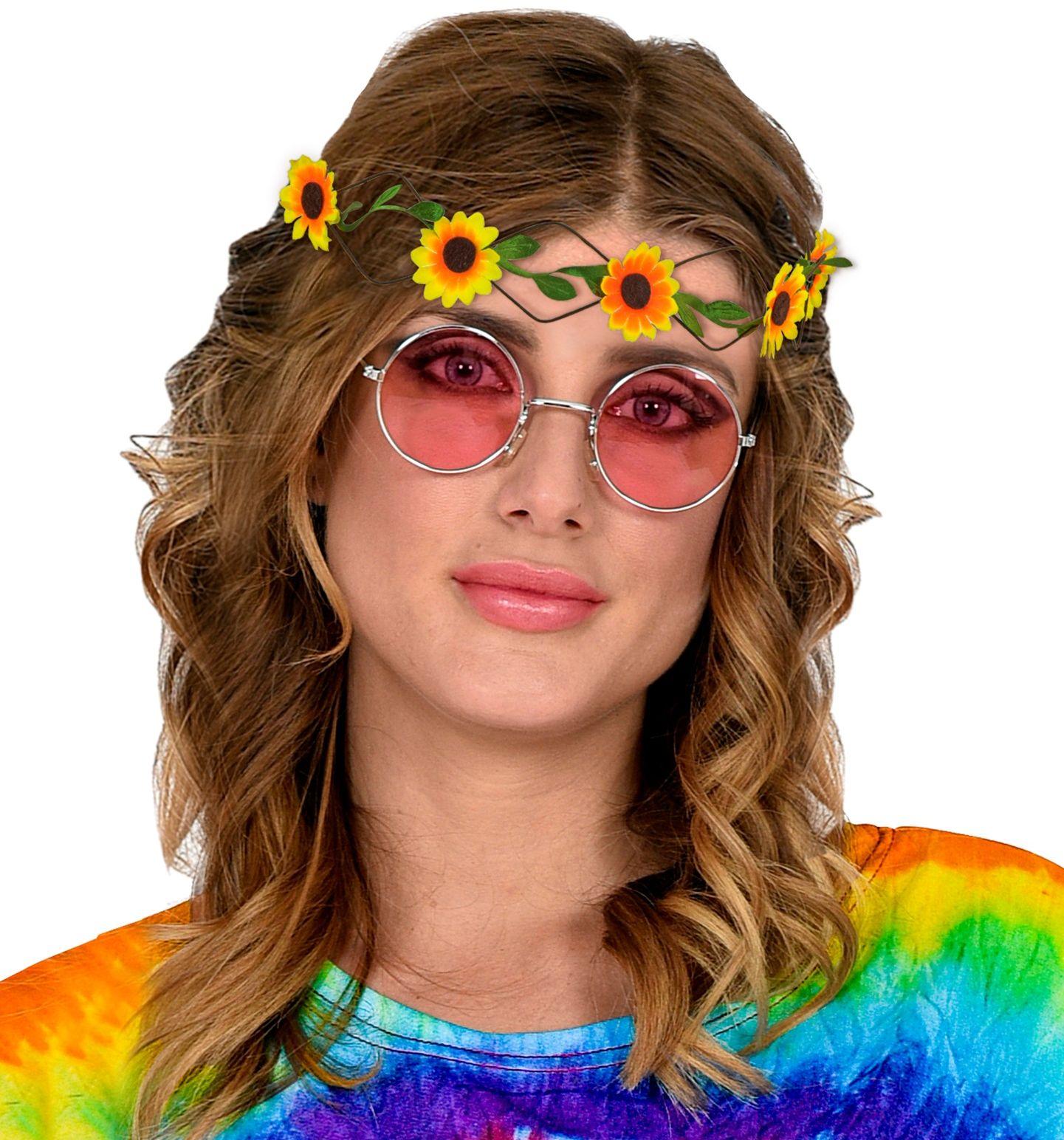 Gele bloemen hoofdband
