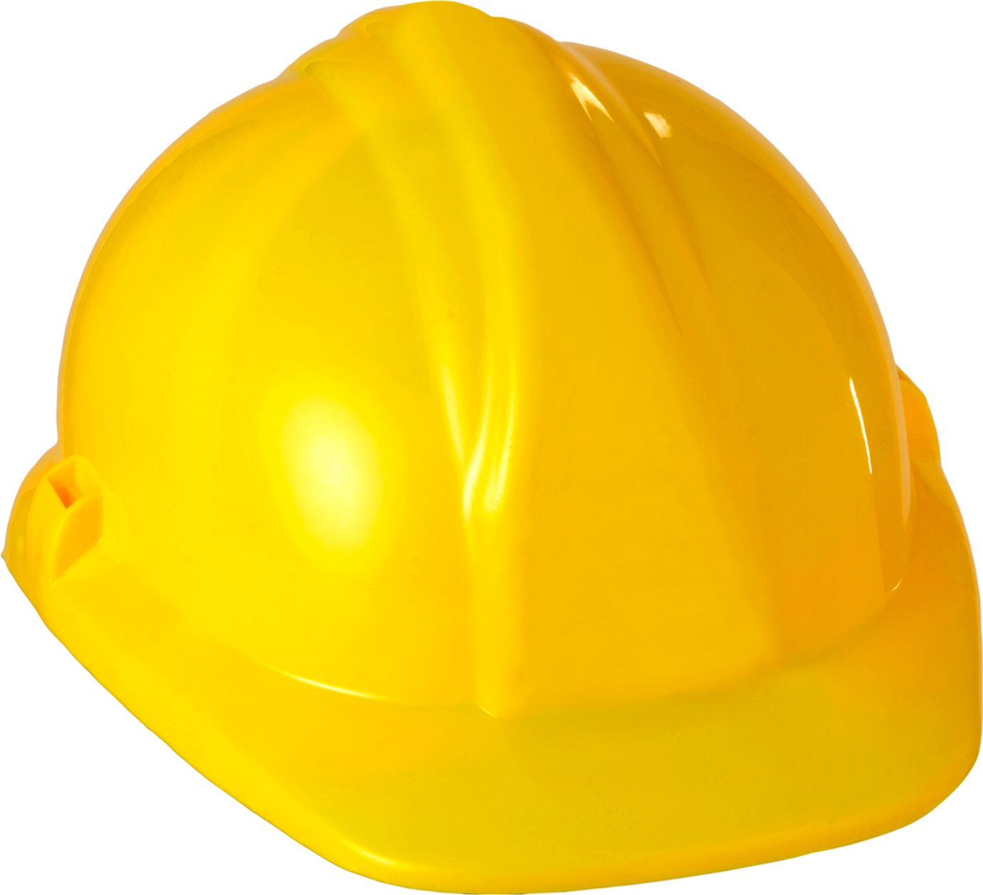 Gele bouwhelm