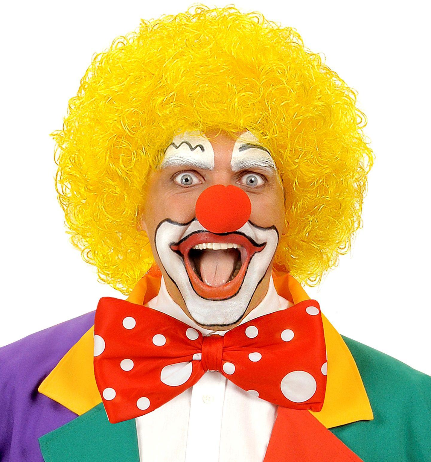 Gele clown pruik