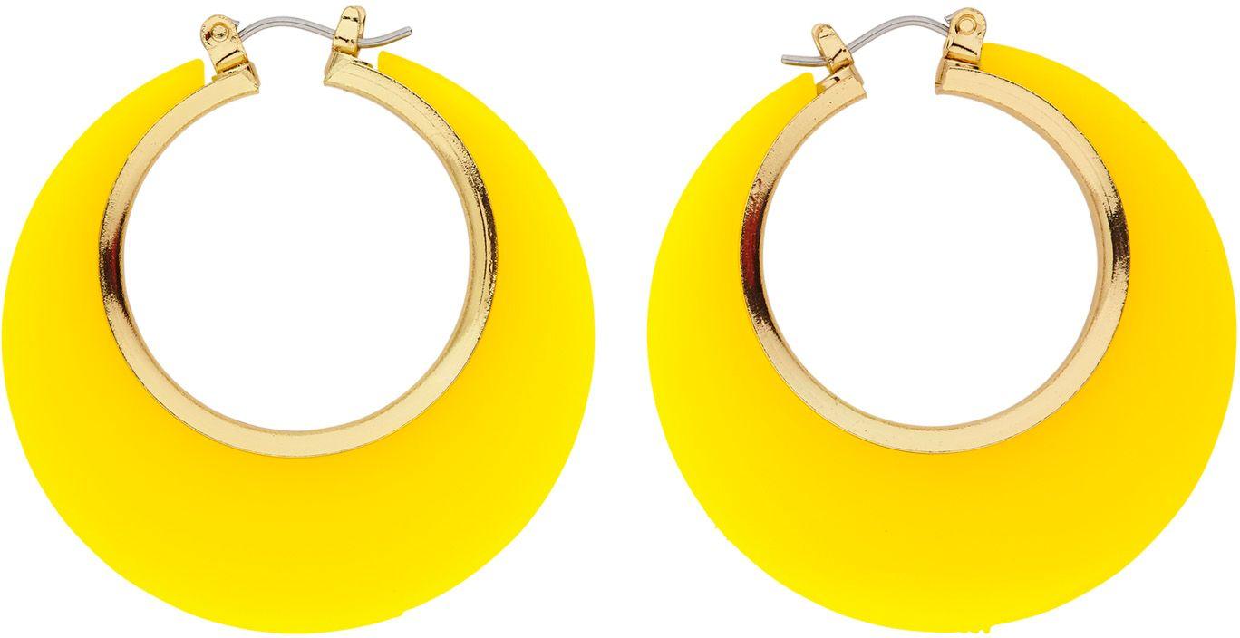Gele disco oorbellen