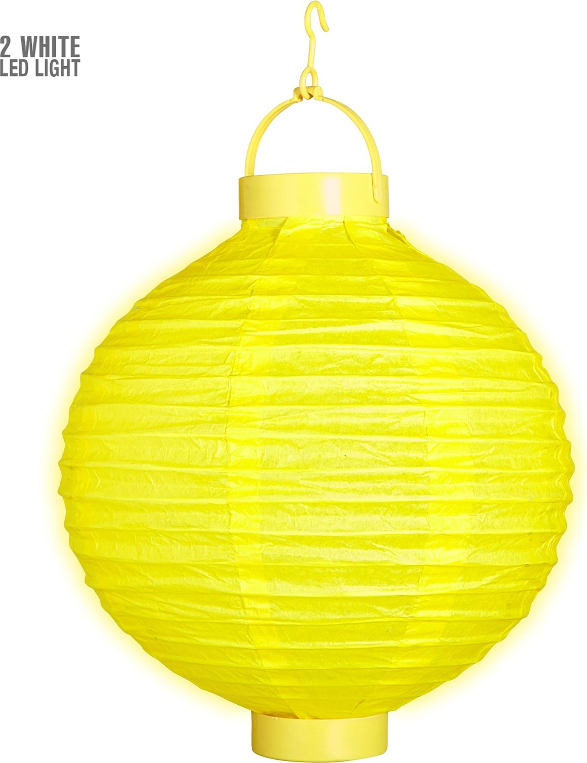 Gele lantaarn met 2 witte LED lichten