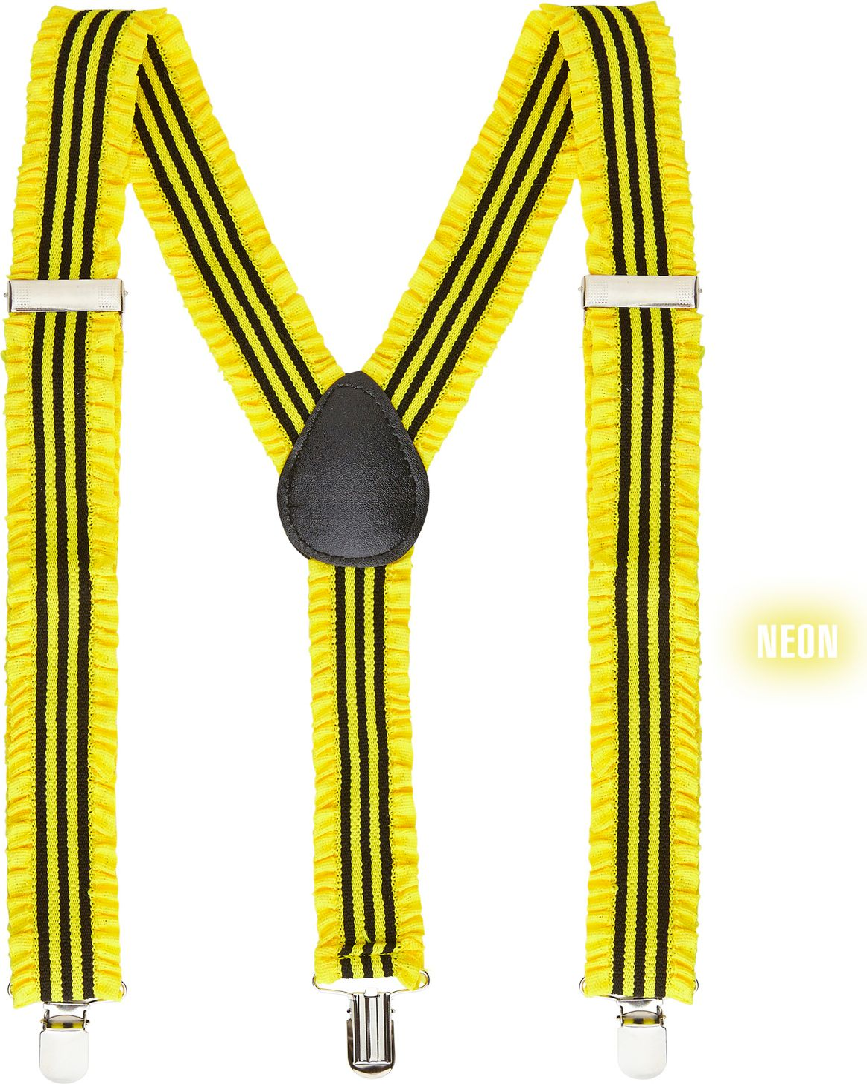 Gele neon bretels