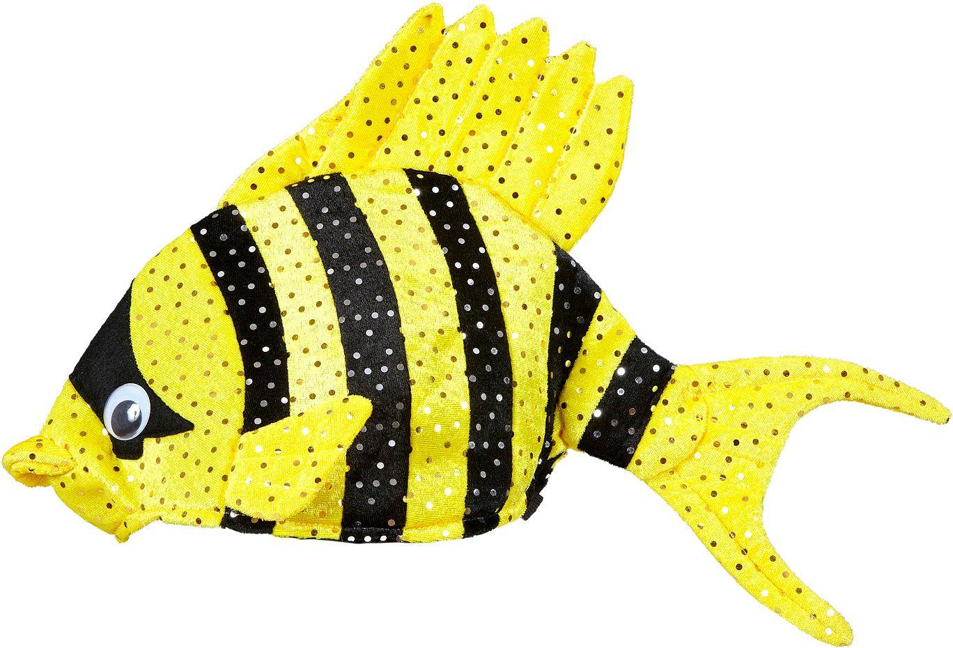 Gele tropische vis hoed