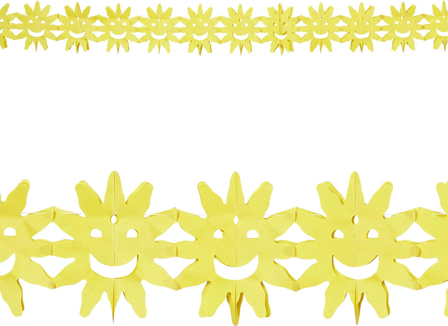 Gele zon slinger