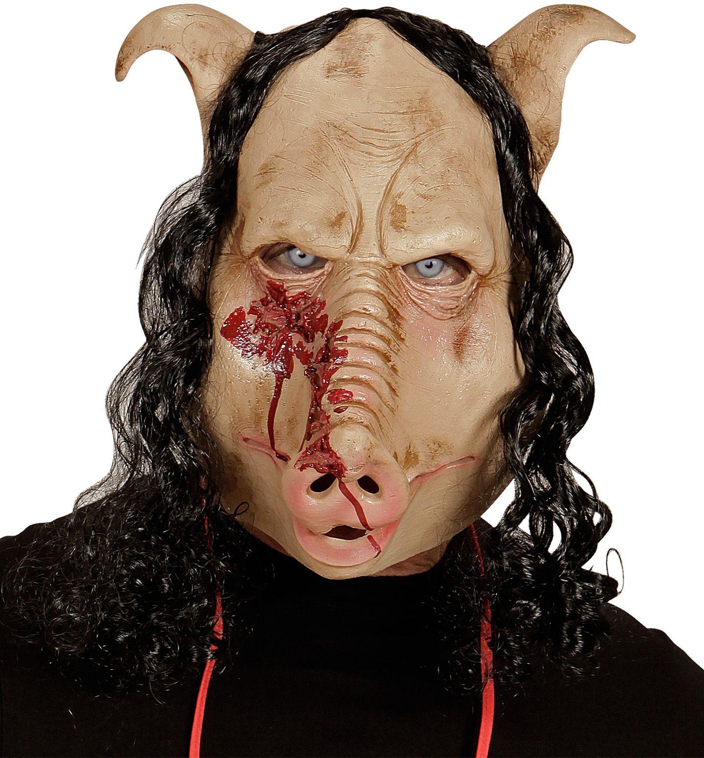 Geslachte varkenskop masker