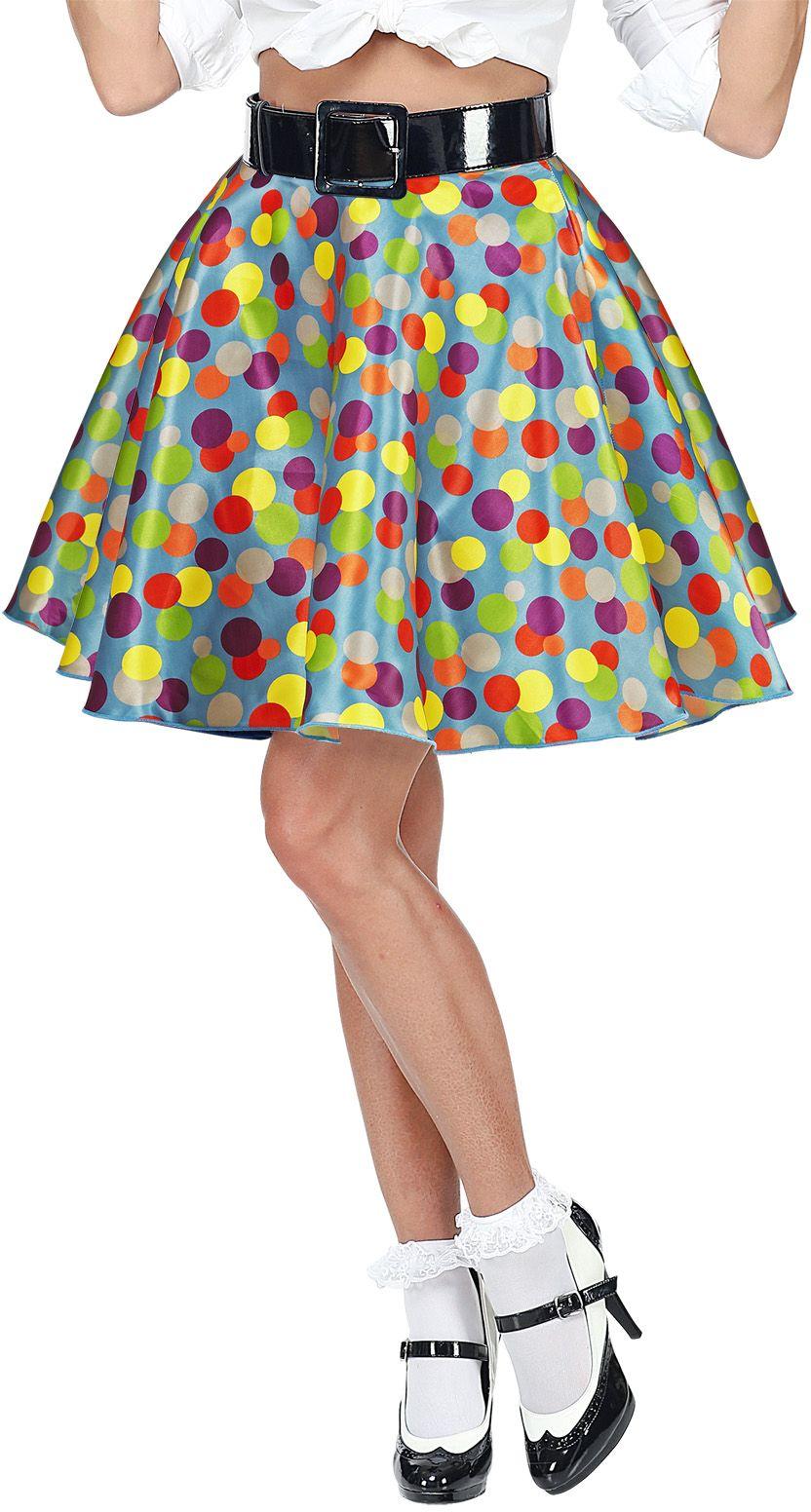 Gestippelde jaren 50 rok One-size-volwassenen