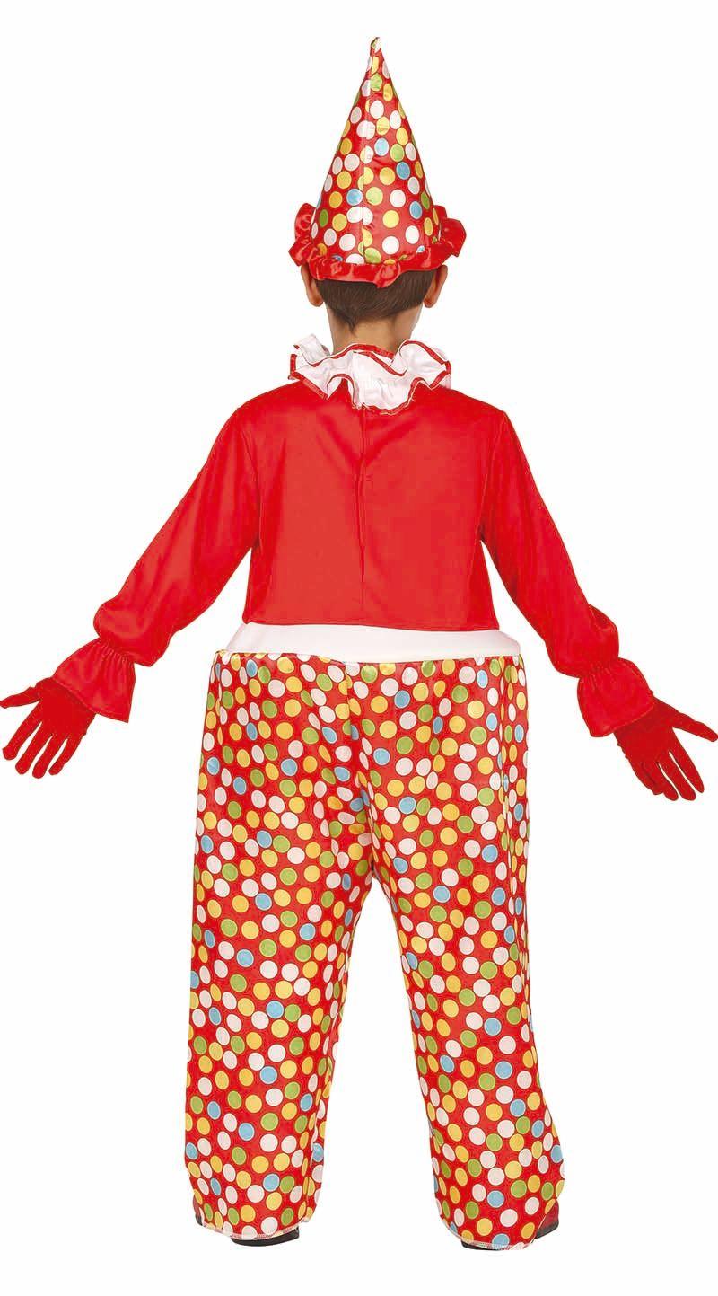 Gestipt clown kostuum