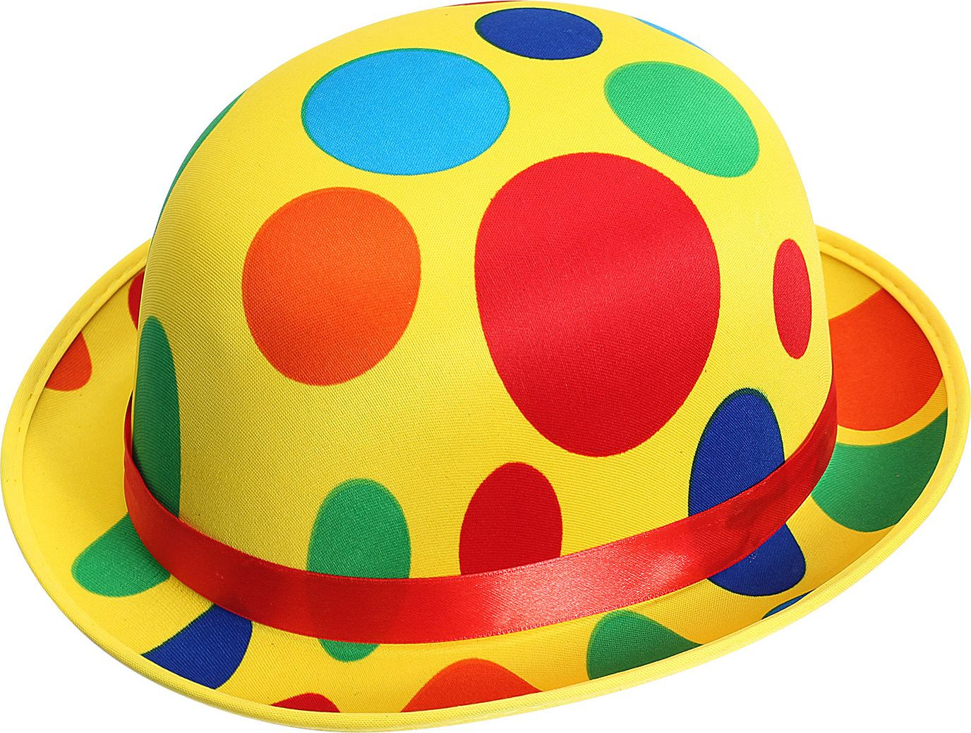 Gestipte clownshoed geel