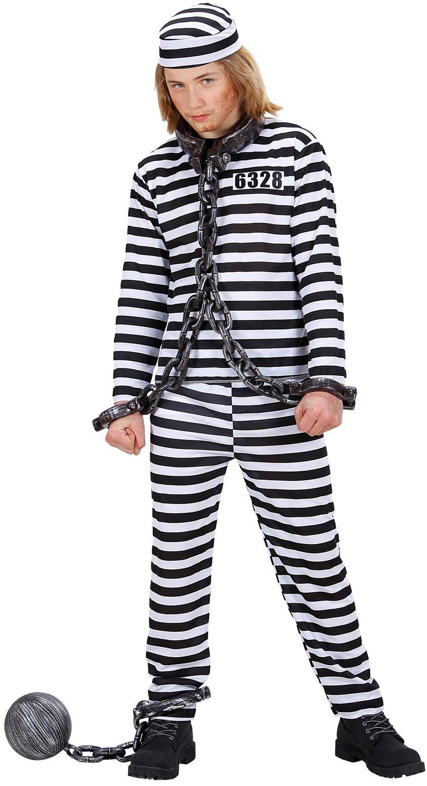 Gevangene boef kostuum