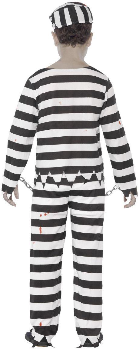 Gevangenis zombie kostuum jongens