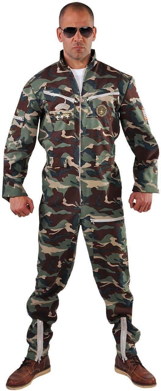 Gevechts piloot camouflage kostuum mannen
