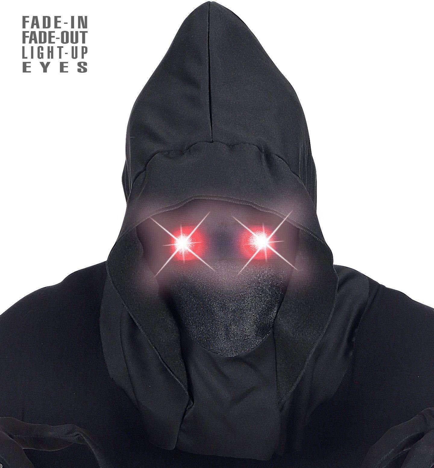 Gezichtloos masker rode ogen mannen