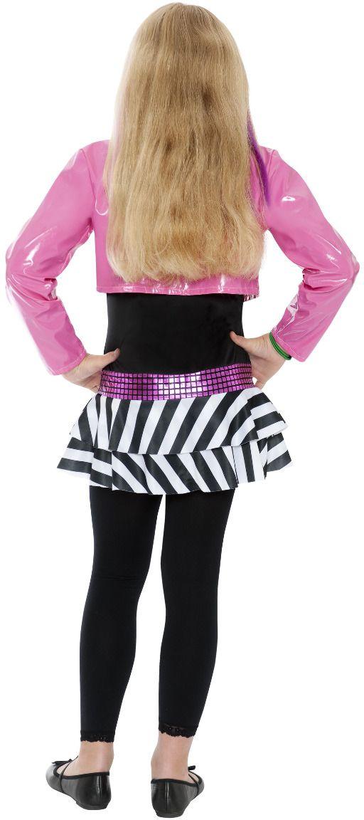 Glamour rockstar kostuum zwart