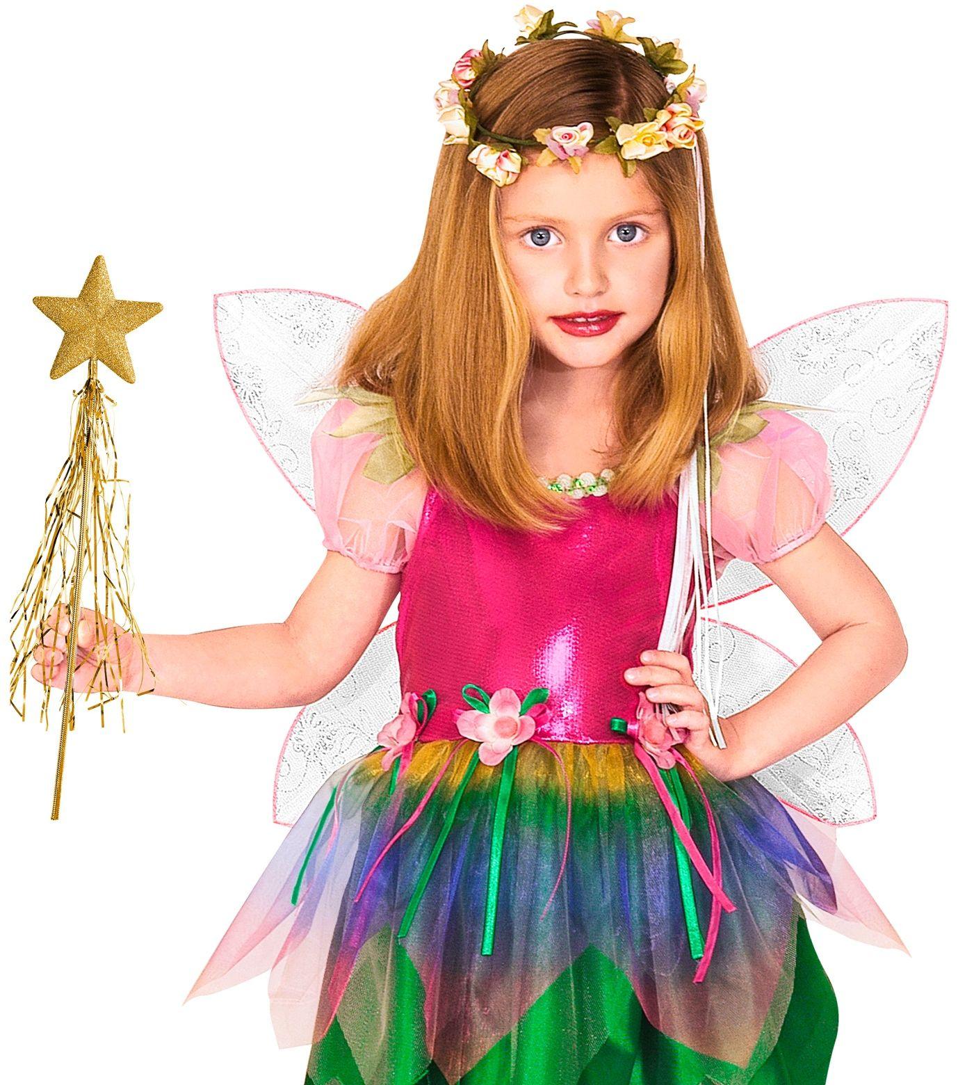 Glitter feeënstaf goud