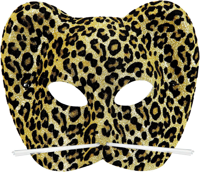 Glitter luipaard oogmasker