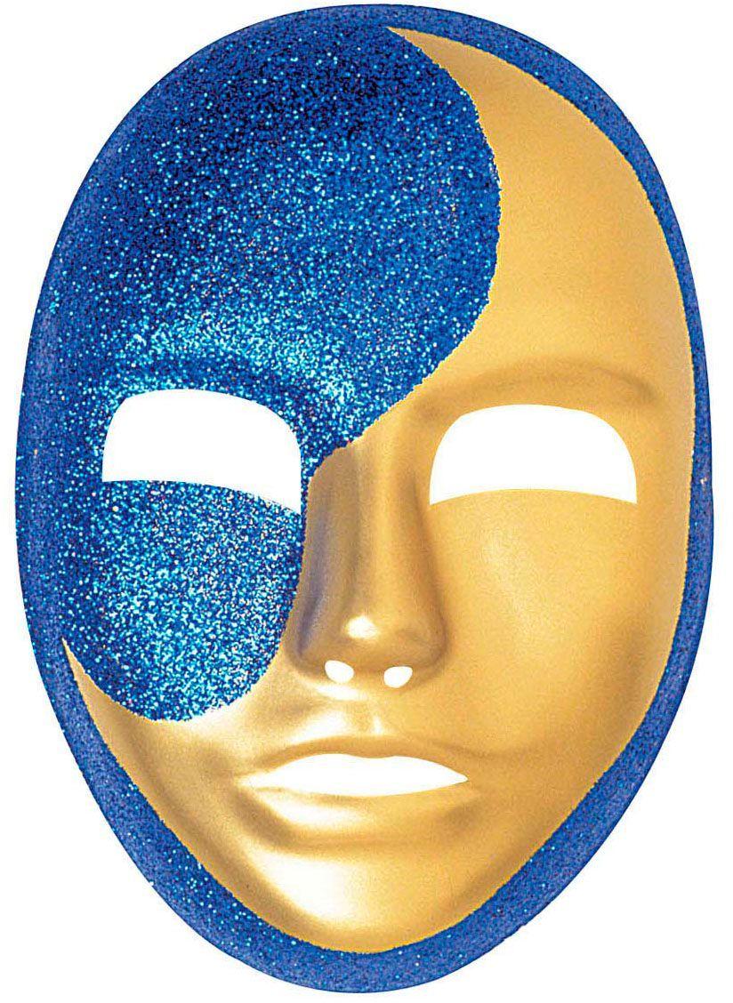 Glitter pvc maanmasker