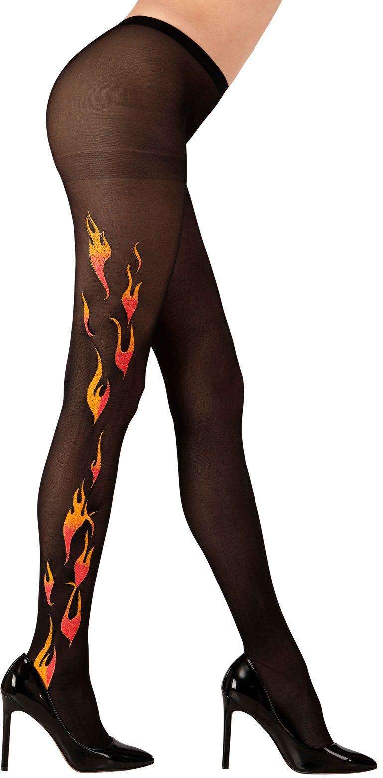 Glitter vlammen panty
