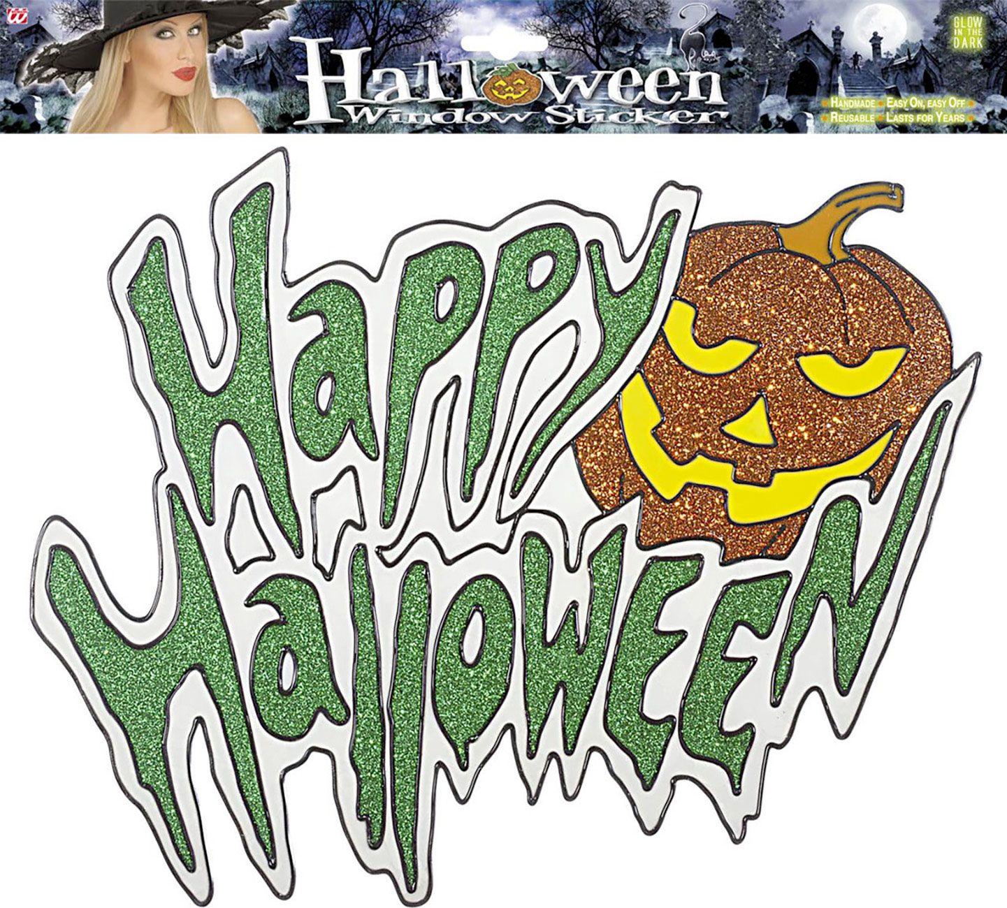 Glow in the dark halloween sticker