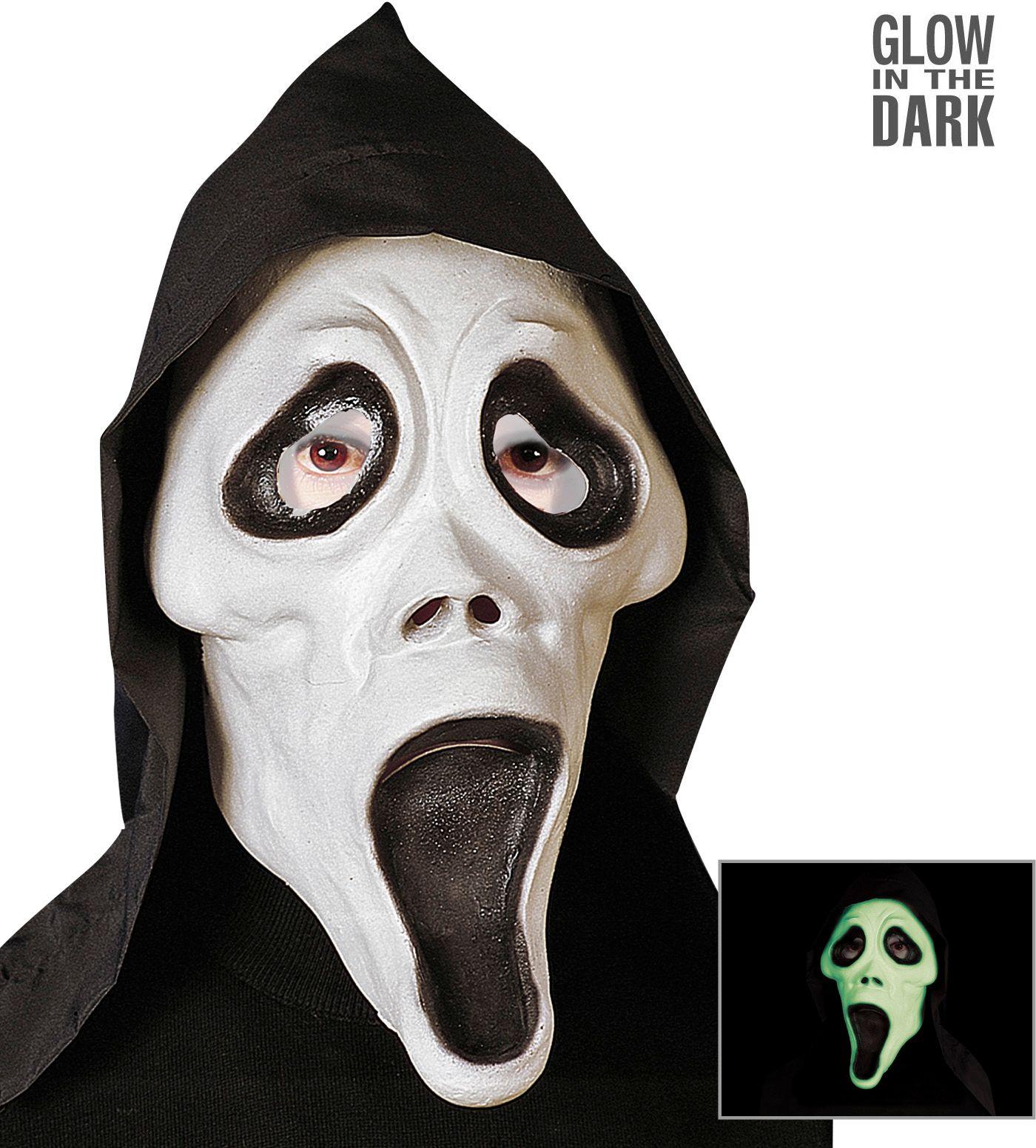 Glow in the dark scream masker