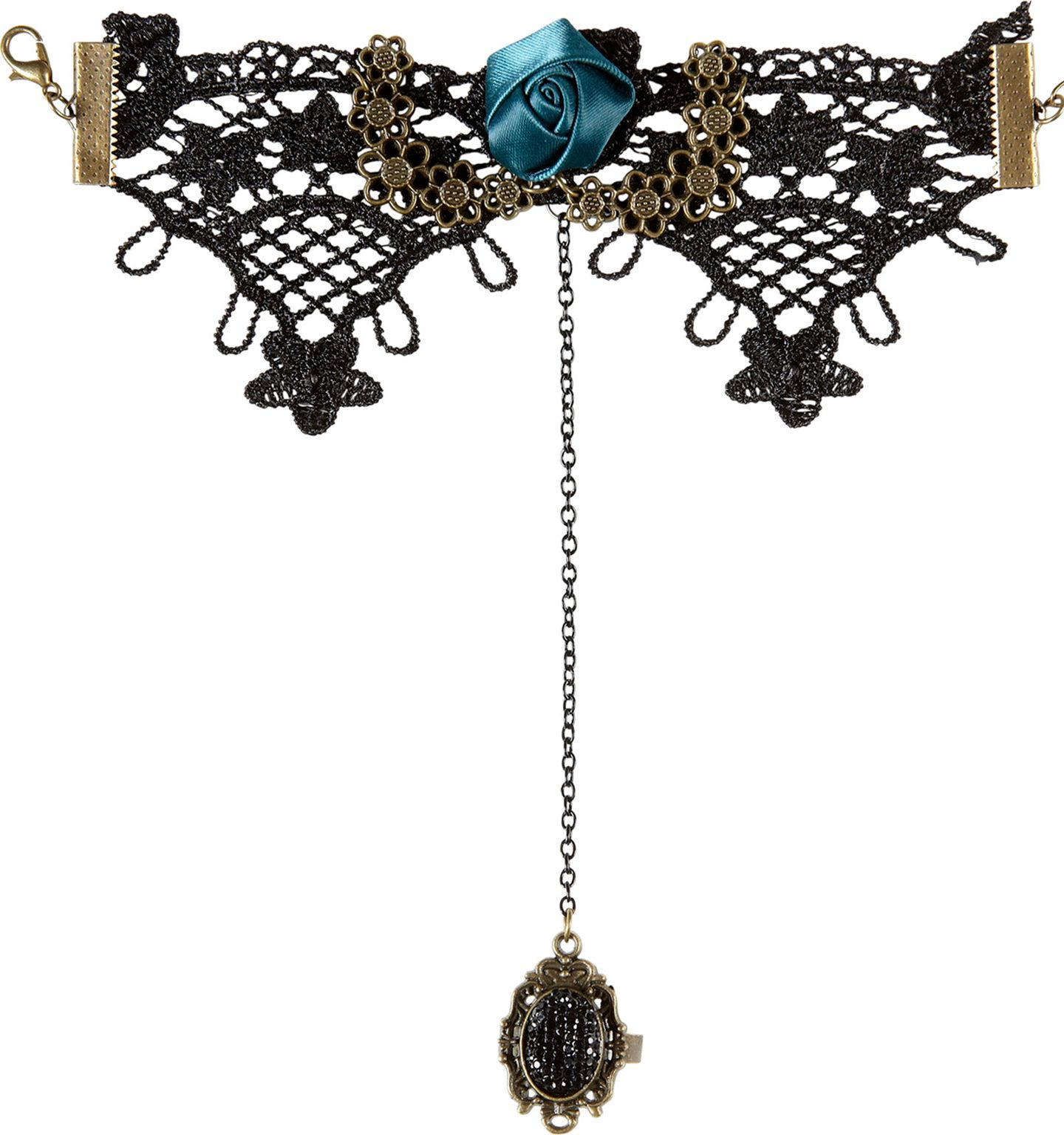 Gothic armband met ring