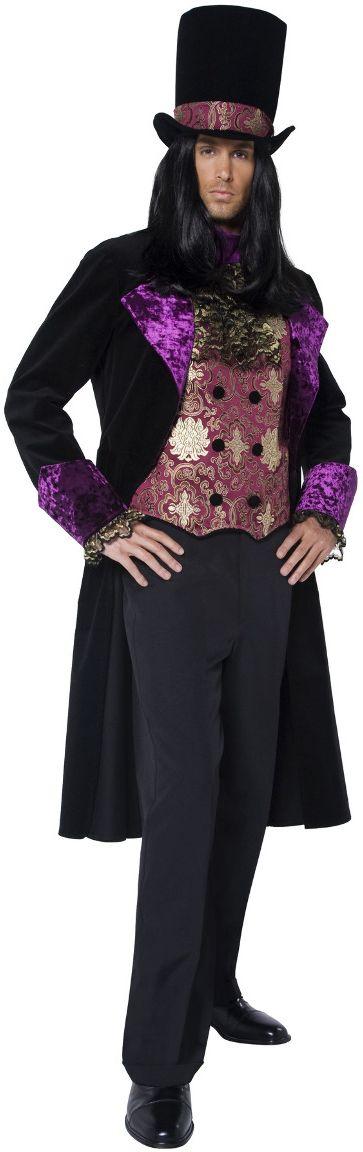 Gothic graaf kostuum zwart