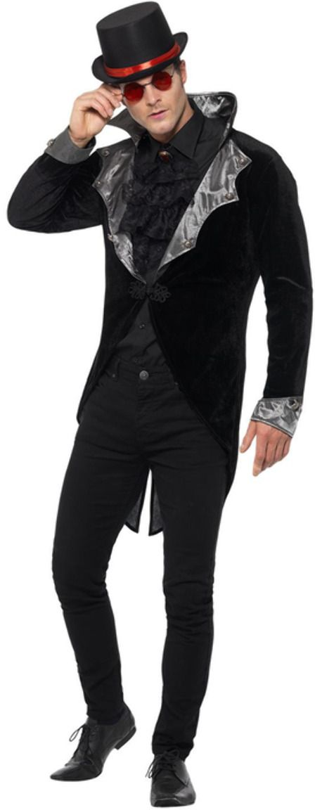Gothic vampier jasje zwart