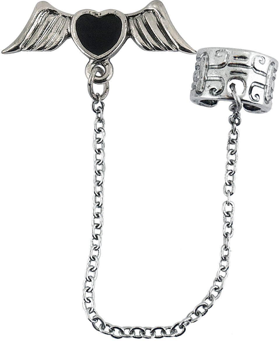 Gothic vleugels oorbellen